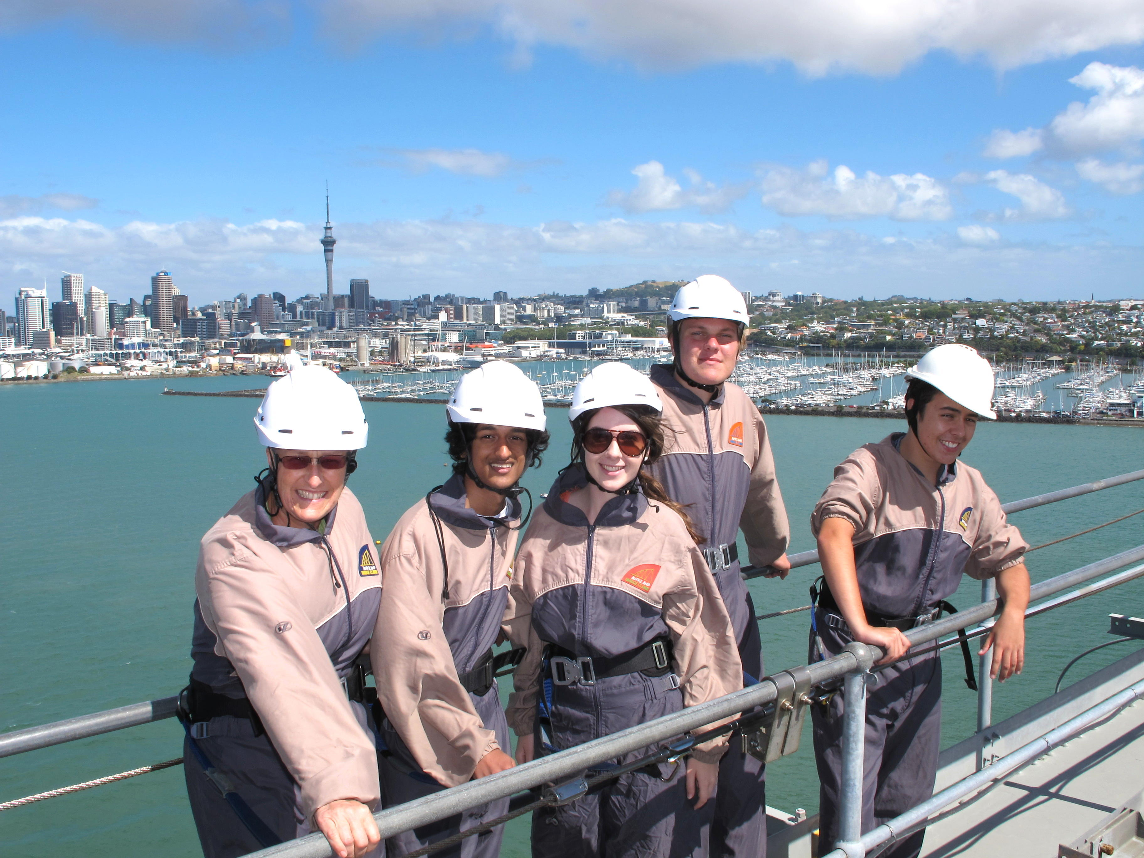 Botany wins a Harbour Bridge climb