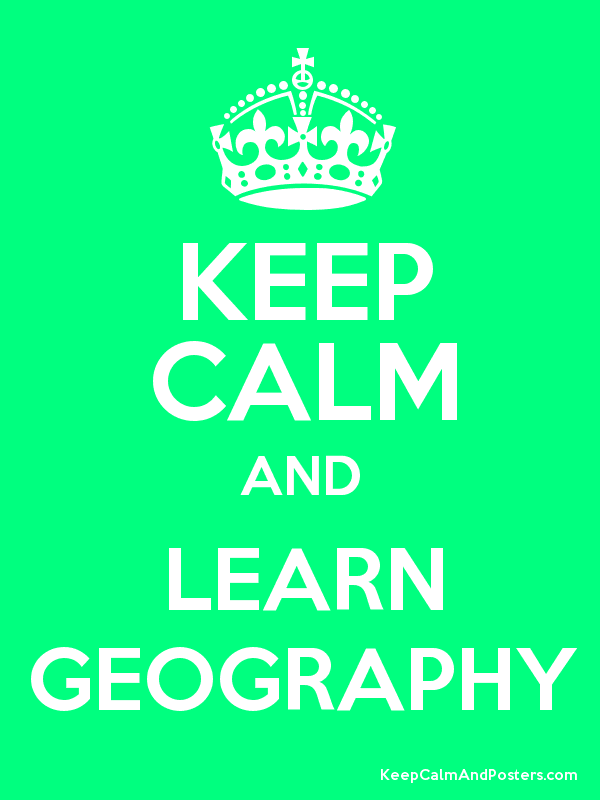 Let's have some good ideas for geography courses.