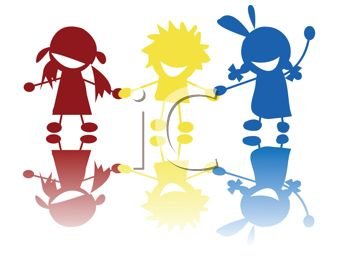 0511-1006-2620-1007_Tribal_children_having_fun_clipart_image